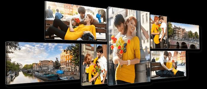 Печать фото на модульных картинах